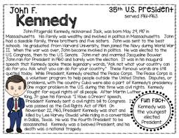 John F Kennedy Biography Timeline Graphic Organizers Text Based Question