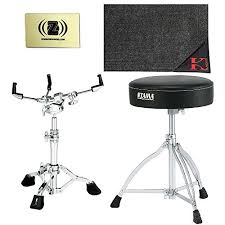 tama hs100w star series snare stand with drum rug drum throne and polishing cloth
