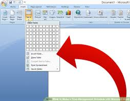 Schedule Table Maker How To Make A Time Management Schedule With Microsoft Word
