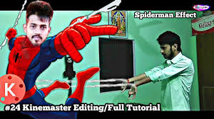 kinemaster editing 24 spiderman web shooter effect full tutorial editor