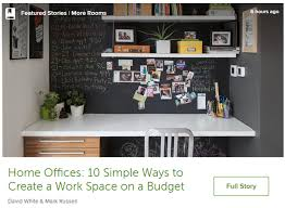 Design home office space worthy Yhome Swoon Worthy Houzz Ideabook 5 10 Simple Ways To Create Work Space On Budget