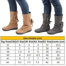 Womens Winter Solid Flat Lace Up Short Snow Boots Warm Casual Fashion Shoes Size