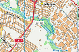 tooting and mitcham munity sports club map sm4 6 os vectormap district