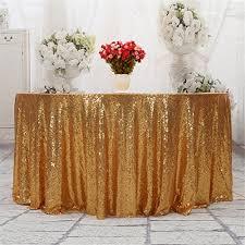 eternal beauty sequin tablecloth sequin table linen 108 round light gold