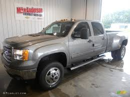 2014 Steel Gray Metallic GMC Sierra 3500HD SLE Crew Cab 4x4 Dually ...