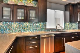 decorative kitchen backsplash tiles complete with espresso kitchen cabinets plus stainless countertop and sink faucets