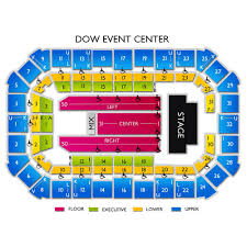 Dow Event Center Seating Chart Dow Event Center Seating Chart Vivid Seats Event Seating