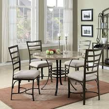marble dining room table darling daisy: acme furniture daisy  piece round faux marble dining table set white
