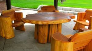 creative outdoor furniture. Furniture Outdoor Log Incredible Chair And Table Wood Design Ideas Creative Of K