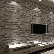 3D Slate Stone Brick Effect Washable ...