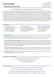 Sample Resume Template for a OHS Professional