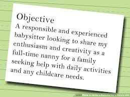 baby siter job how to write a resume for a nanny job 10 steps with pictures