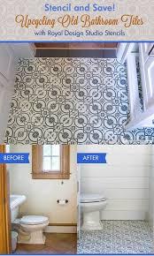 old bathroom tile. Upcycling Old Bathroom Floor Tiles With Stencils From Royal Design Studio Tile