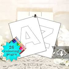 Just click on the alphabet coloring pages that you like and then click on the print button at the top of the page. Alphabet Coloring Pages Printable A Z Instant Download 26 Coloring Sheets 8 X 10 Framable Name Banners Kid Crafts Party Favors By Cameo Party Designs Catch My Party