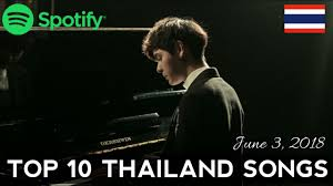 Thai Music Top Chart Spotify Top 10 Thailand Songs June 3 2018