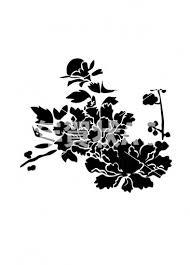 椿 シルエット No1012852020年の無料年賀状デザインなら年賀状ac