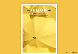 Magazine Cover Layout With Yellow Accents Buy This Stock Template