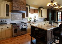 Cream Color Kitchen Cabinets Cream And Black Kitchen Alldpiccom