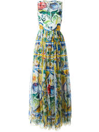 dolce gabbana majolica print evening dress women clothing dolce and gabbana gles case