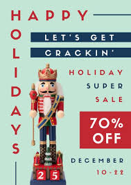 Advertising Posters Nutcracker Holiday Sale Advertising Poster Templates By Canva