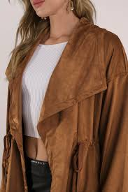 tobi suede jackets camel nava faux suede anorak tobi