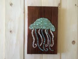 sea beach glass sea glass art jellyfish