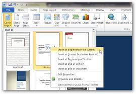 Templates In Ms Word 2010 How To Create Custom Cover Pages In Microsoft Word 2010