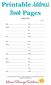 Printable Address Book Template Excel Telephone Address Book Template Medium To Large Size Of Phone Book
