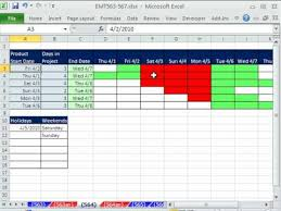 Excel Magic Trick 564 Daily Gantt Chart
