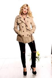 trench coat collared look long sleeve big ons front pockets