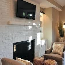painted brick fireplace white white brick fireplace how do i paint my brick fireplace white