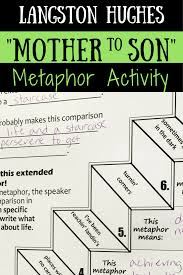 mother to son langston hughes poem activities study langston these mother to son poem activities part of my langston hughes poem activities bundle will help students analyze extended metaphor character
