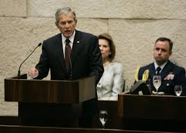 obama is fifth serving president to the times of  president george w bush speaks to a special session of the knesset 15