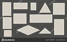 Stamps Template Blank Postage Stamps Template Perforated Post Marks