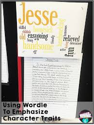 character trait essays and wordle teaching in room bloglovin  character trait essays and wordle