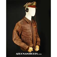 a 2 leather flying jacket us army air force pilot wwii