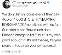Btc Quote Simple Binance Denies 48 BTC Listing Quote Accuser Responds €�You Are A F