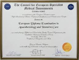 european diploma in anaesthesiology and intensive care