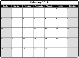 pdf printable calendar free printable calendar february 2019 pdf printable 2018 calendars
