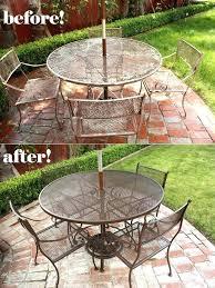 spray painting metal patio furniture spray painting metal patio furniture done in only a few hours