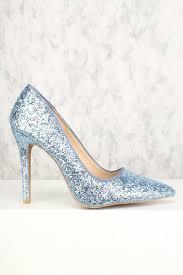Light Blue Glitter Heels Sexy Light Blue Multi Single Sole Pump High Heels Glitter Faux Leather