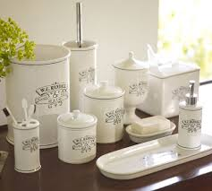 Black White Apothecary Bath Accessories Pottery Barn