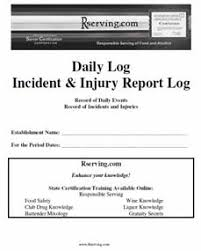 what is an incident report incident report log