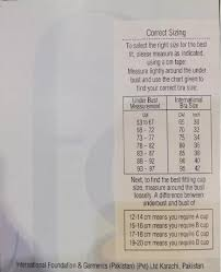 Bra Size Chart In Pakistan Ifg Bra Classic Deluxe Soft Original Skin Color