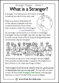 Stranger Danger Coloring Pages Responsibility Activity Sheets More