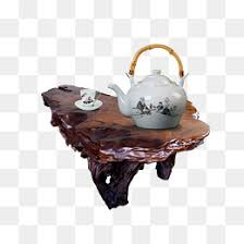 creative wooden tables with teapots and cups, Creative Wood Tables, Teapot,  Cup PNG