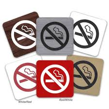 No Smoking Signage No Smoking Signs National Hospitality