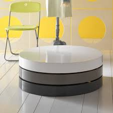 ... Furniture:Modern Design Round Coffe Table Transformable Designs 3  Rotating Parts Round Shape Modern Table ...