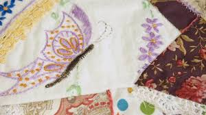 How to Add Vintage Embroidery Pieces to a Crazy Quilt Square - YouTube &  Adamdwight.com