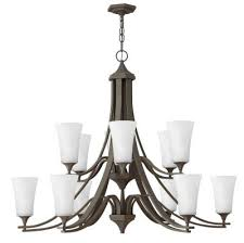 brantley 12 light foyer pendant oil rubbed bronze with white